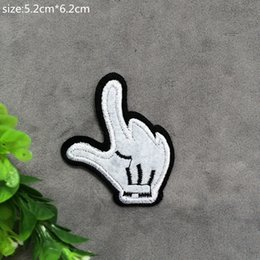 Gloves Diy Canada - Free Shipping~Gloves Iron On Embroidered Patch Appliques DIY bag clothing patches Applique Badges