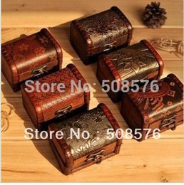 $enCountryForm.capitalKeyWord Canada - Vintage style wooden jewelry box storage box 12 style classic carved creative storage cases New year gifts 12 Pcs lot