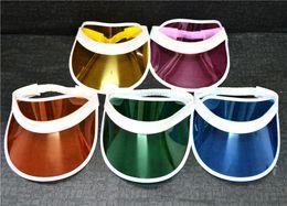 $enCountryForm.capitalKeyWord Canada - Plastic Visor Hat Party Accessory Unisex UV Protection Clear SunscreenTennis Travel Cap 50pcs lot Free Shipping
