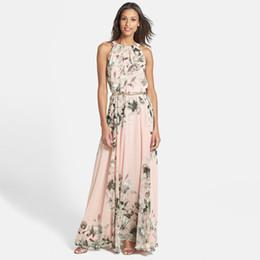 2705d9cad43e75 2016 Fashion Vestidos Floral Print Summer Women Dress O Neck Sleeveless  Casual Long Maxi Dress Plus Size Party Dresses <$18 no tracking