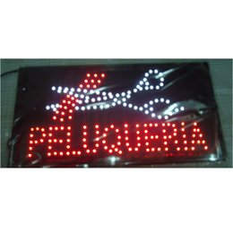 Semi outdoor led diSplay online shopping - 2016 direct selling customed low power X19 inch semi outdoor Ultra Bright peluqueria barber shop led display