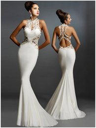$enCountryForm.capitalKeyWord NZ - Weddings & Events Special Occasion Dresses Tuxedo Sleeveless Backless Decal Stitching Sexy Slim Bandage Backpack Fishtail Lace Bress Q046