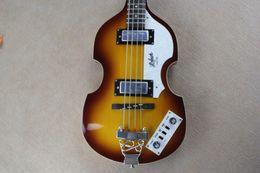 StringS for baSS guitar online shopping - McCartney Hofner H500 CT Contemporary Violin Deluxe Bass Vintage Sunburst Electric Guitar Flame Maple Top Back B Staple Pickups