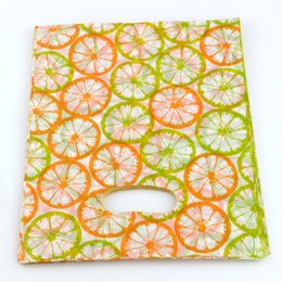 Discount hot handles - Hot ! 100pcs 20X25CM Orange Plastic Bags Jewelry Gift Bag, Jewelry Pouches
