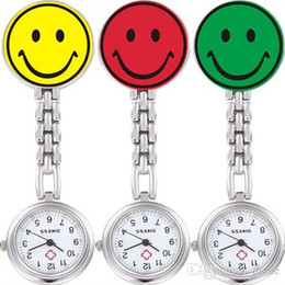 Smile Nurse Watches 7 Colors Pocket Watch Alloy Band Brooch For Christmas Birthday Gift Free DHL Fedex TNT