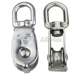 $enCountryForm.capitalKeyWord Australia - 2PCS Single Wheel Swivel Lifting Rope Pulley Block Heavy Duty Stainless Steel