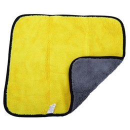 Chenille Towels Wholesale UK - Wholesale- 2 in 1 Double Side Microfiber Premium Coral Fleece Vehicle Wash Towel Amazingly Absorbent with High Quality Chenille Material