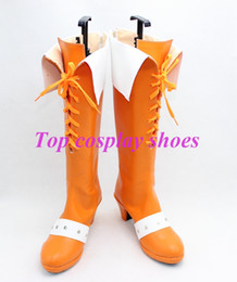Discount costume ver - Wholesale-The Seven Deadly Sins Diane Cosplay Boots Shoes Hand Made high heel Ver. A Custom made new Version #TS139 Cust