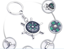 Car Camping Gear Canada - 40pcs Fashion Accessories High rudder compass keychain compass Mini compass King ring pocket Outdoor Gadgets Hiking & Camping Outdoor Gear