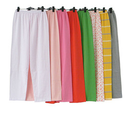 Wholesale-2016 Summer Ms Cotton Sleep Lounge Clothing Women s Candy Color Cotton  Pajamas Loose Sleep Bottoms Large Size JA6018 0524e30c5
