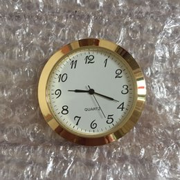 clock fit ups NZ - 55mm insert clock gold metal bezel insert clock arabic dial fit up clock PC211s movt.and japanese battery