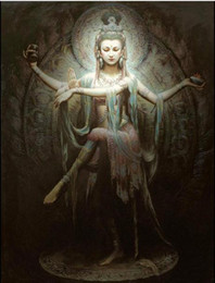 $enCountryForm.capitalKeyWord Canada - Framed Chinese Dunhuang Flying Goddess beauty,Free Shipping,Pure Hand-painted Portrait Art Oil painting On Canvas,Multi size Available DH001
