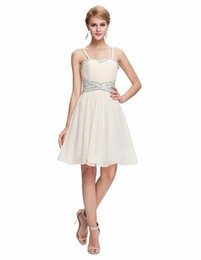 $enCountryForm.capitalKeyWord Canada - White Mini prom dresses 2019 Latest Designs Women Celebrity Apricot short prom dress Spaghetti Strap Backless cocktail dresses Banquet Party