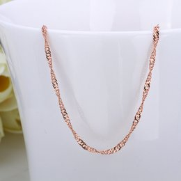platinum mens gifts 2018 - 2016 wholesale retail bulk 18K Gold Rose Platinum Plated water wave Twisted Singapore Chains Women 18 inches Gold Chain