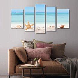 5 combinación de fotos Spirit Up Art Enormes decoraciones caseras-Starfish on Beach Impresión de lienzo Modern Wall Painting Art (sin enmarcar) en venta