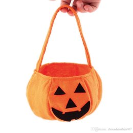 $enCountryForm.capitalKeyWord UK - Halloween Pumpkin Bags 2016 new Halloween pumpkin Bag Children Candy Basket Masquerade Party Performance Props Party Supplies