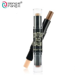 Discount cover highlights - Wholesale- Maquiagem Bronzer 3D Make up Highlight Contour Cream Stick Contouring Foundation Face Concealer Pen Full Cove