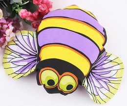 Pet Toys Canvas NZ - 10PCS LOT Wholesale Bee Crinkle Squeaky Dog Toy Pet Toy For Dog Puppy Cotton Funny Stuffed Canvas Interactive Toy FAT CAT