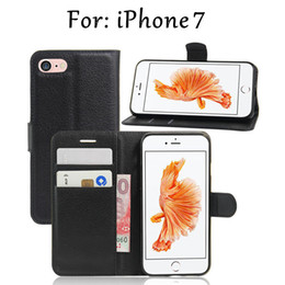 goophone i6s NZ - Wallet Leather Cell Phones Cases for Iphone 7 Plus I7 goophone I6s I6 plus Iphone 5 5s with kickstand 8 color choice