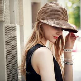 $enCountryForm.capitalKeyWord Australia - Wholesale- Sunscreen straw hat female foldable casual eaves straw hat fall vacation shade cap woman hat summer 2017 beach sun hats