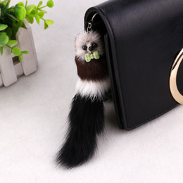 Plush Frame Canada - Cute little girls selling mobile phone ornaments Plush mouse pendant Keychain bags wholesale