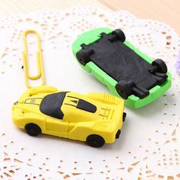 China Creative Children cartoon stationery rubber cute Sports car eraser pupil award gift Emoji Eraser WD466AA suppliers