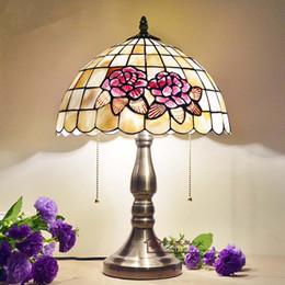 2017 Retro Style Table Lamps European Style Retro Handmade Creative Table  Lamp Shell Desk Lamp Living