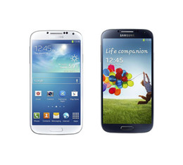 Wholesale Unlocked Original Samsung Galaxy s4 I9505 I9500 Android Phone with G RAM G ROM touch screen MP DHL EMS shipping