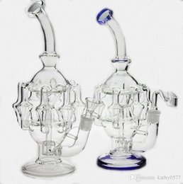 "high quality percolator bongs NZ - Bong! High quality 11""inches glass bong water pipes 8 arm perc 1gear Percolator oil rig oil rig 14.4mm joint have bowl"