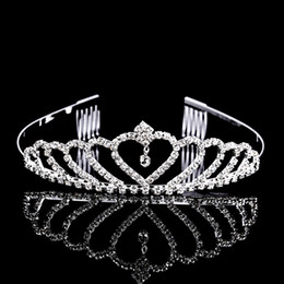 Diamond Ball Hair Canada - Bling Beaded Crystals Wedding Crowns 2017 Bridal Diamond Jewelry Rhinestone Headband Hair Crown Accessories Party Tiara Cheap