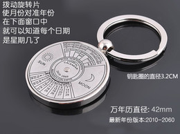 lighting calendar Australia - Chinese English calendar Keychain creative promotional gifts metal keychain customized high-end gift calendar