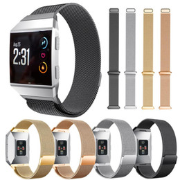 Barato Fechaduras De Pulseira-New Magnetic Milanese Loop Stainless Steel Magnet Lock Band para Fitbit Ionic Replacement Wristband Strap SP28