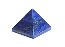 Chinese  Natural Tumbled Chakra Stone Carved Crystal Reiki Healing Pyramid Statue with a Pouch manufacturers