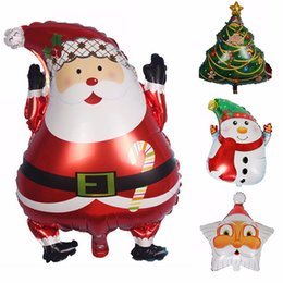 discount aluminum christmas tree wholesale christmas party bolloons santa claus snowman tree aluminum wedding ballon party - Christmas Tree Wholesale