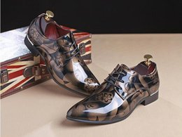 $enCountryForm.capitalKeyWord NZ - Big Size 6.5-13 New Fashion Men Wedding Dress Shoes Black Shoes Round Toe Flat Business British Lace-up Men's shoes