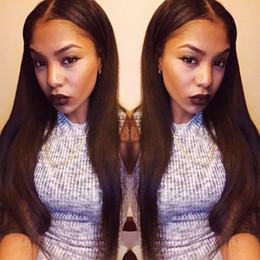 $enCountryForm.capitalKeyWord Canada - Natural looking human hair wig silk straight full lace wig long black Brazilian hair high ponytail straight lace front wig
