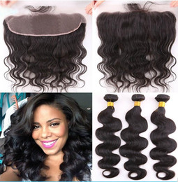machine wefted hair Australia - Best Quality Body Wave 13x4 Ear To Ear Full Lace Frontal With Malaysian Body Wave Human Hair Bundles Double Wefted 4Pcs lot