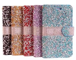 $enCountryForm.capitalKeyWord Canada - For iPhone 6 6S Case Luxury Glitter Bling Crystal Diamond PU Leather Wallet Case Card Slots Bling Cover DHL Free SCA105