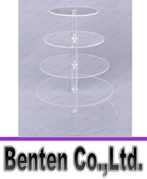cupcake display tier NZ - 5 Tier Clear Acrylic Round Cupcake Stand Wedding Birthday Cake Display Tower LLLFA8940