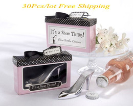 Christmas Gift Shoes Australia - (30 Pieces lot) Bridal Shower Party Favors of It s a Shoe Thing Shoe Bottle Opener Favors For Wedding Decorations Gifts