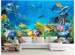 $enCountryForm.capitalKeyWord Canada - 3d wallpaper custom photo non-woven mural The undersea world fish Children room painting picture 3d wall room murals wallpaper