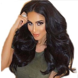 Long Hairs Canada - Long Loose Wave Human Hair Glueless Full Lace Wigs with Baby Hair Around Wavy Lace Front Wigs