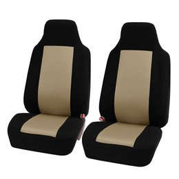 Auto Car Interior Decoration UK - 2pcs set Seat Covers & Supports Car Seat Cover Universal Fit Most Auto Interior Decoration Accessories Car Seat Protector