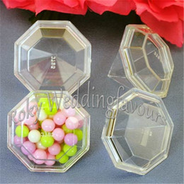 $enCountryForm.capitalKeyWord NZ - DHL FREE SHIPPING 100PCS Clear Diamond Candy Boxes Favors Holders Bridal Shower Wedding Souvenir Party Deco Supplies