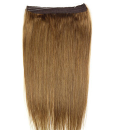 "$enCountryForm.capitalKeyWord UK - ELIBESS HAIR-16""-28"" Non-remy Halo Hair Flip in Human Hair Extensions 23 Colors One piece Set No clip Fish Line Natural Straight"