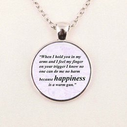 Wholesale Jewelry Quote Necklace The Beatles Necklace All You Need Is Love  Pendant Glass Photo Cabochon