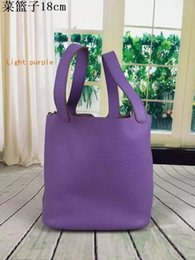 8875f3797977 Top leather Food Basket Housewife latest shopping casual bags cowhide  durable bags suede inside 18x22cm factory price free shipping