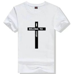 $enCountryForm.capitalKeyWord NZ - I belong to Jesus T shirt Yahushua god belief short sleeve gown Christian tees Leisure printing clothing Unisex cotton Tshirt