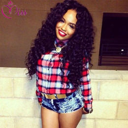 Deep Curly Indian Lace Wig Canada - Front Lace Wigs 130% Density Full Lace Human Hair Wigs For Black Women 7A Brazilian Wig Deep Curly Lace Front Human Hair Wigs