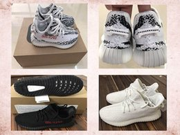 Lycra Latex Garçon Pas Cher-Hot Sell Kids Boost 350 V2 Zebra Beluga Triple Blanc Noir Rouge Zebra Shoes, Girls Boys Jeune Sply 350 V2 Zebra Sneakers 28-35